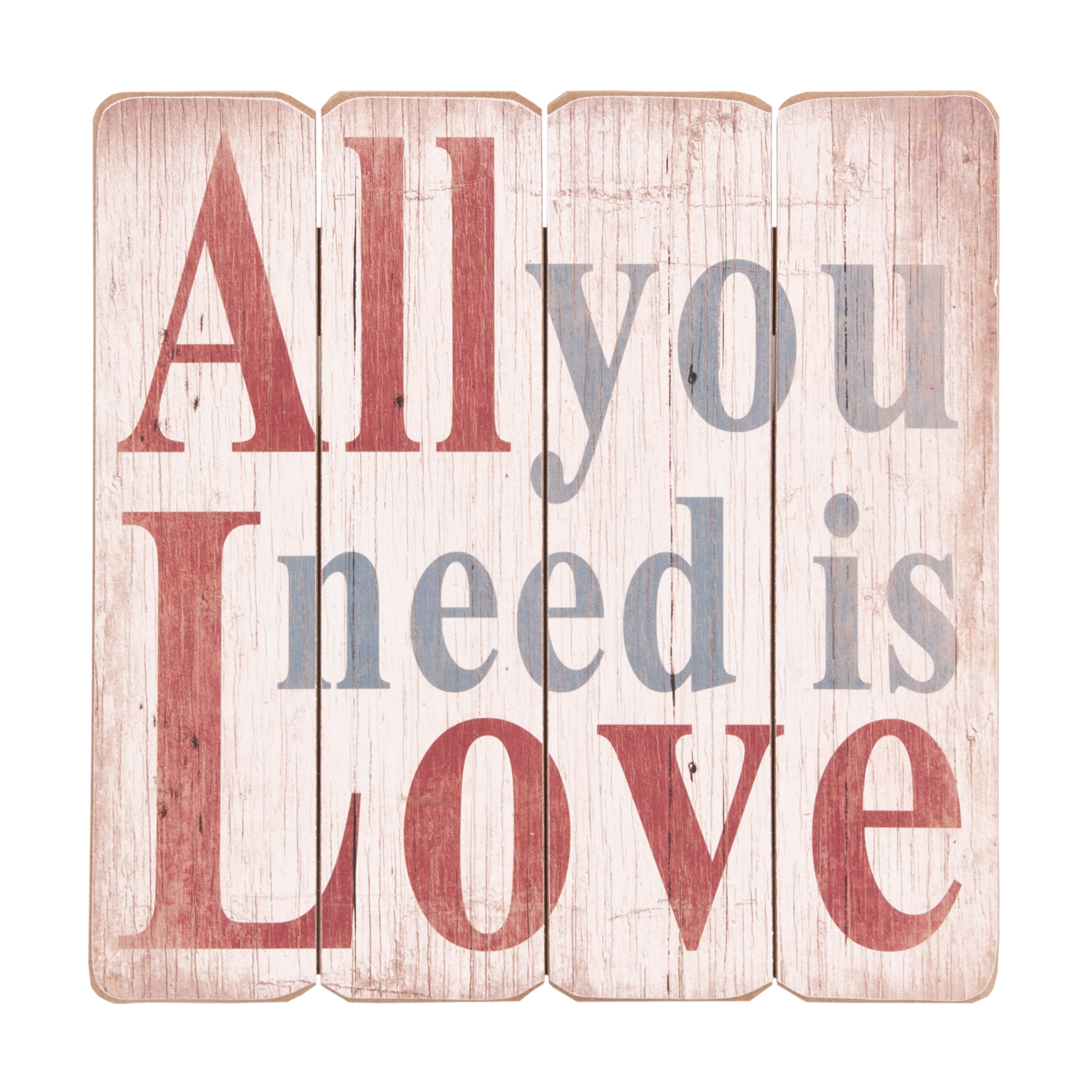 Dřevěná cedule na pověšení-All you need is love