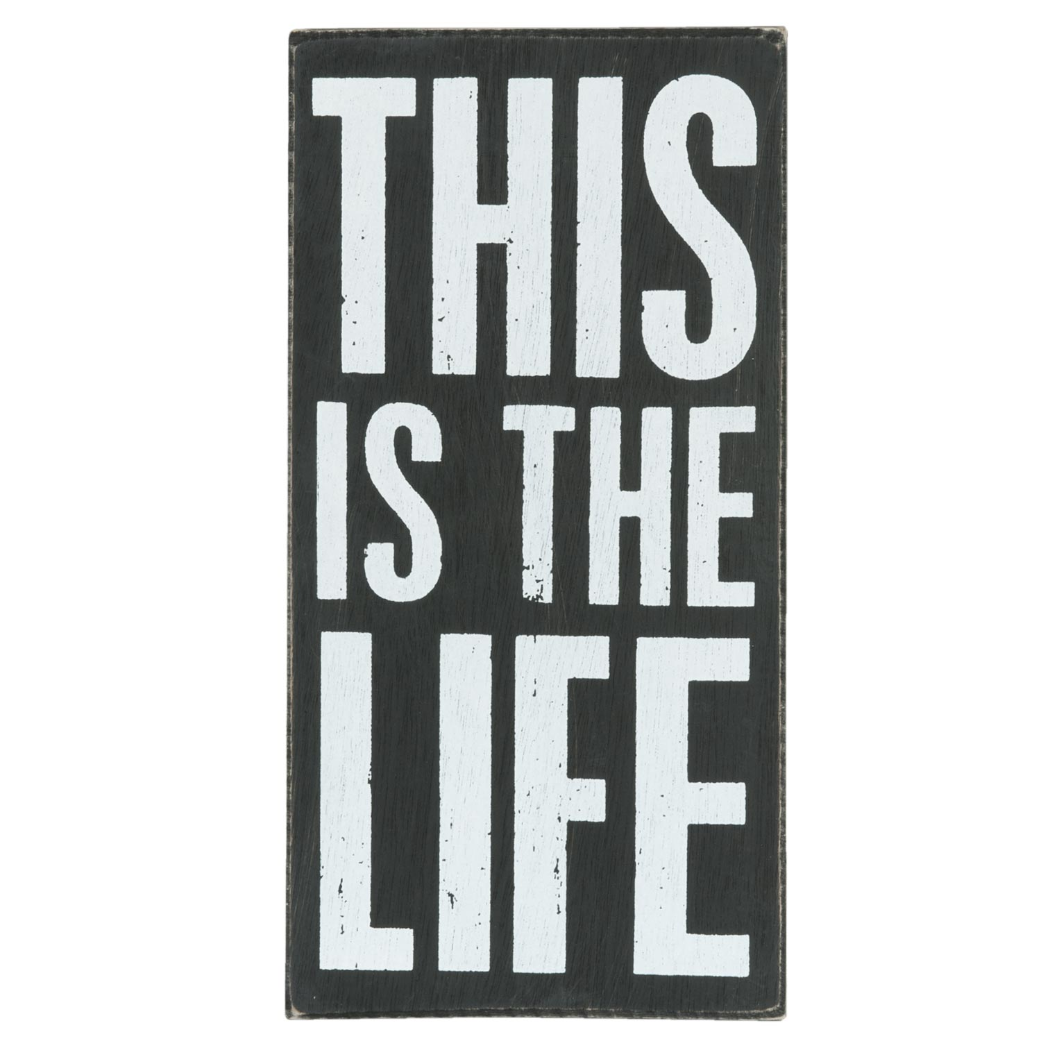 Dřevěná cedule-This is the life